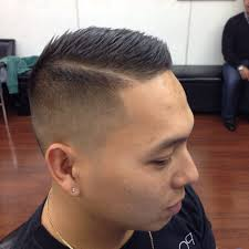 tag fade haircut with part line top men haircuts