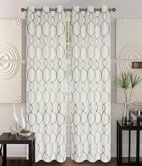 pair of owen chocolate faux silk window curtain panels w grommets