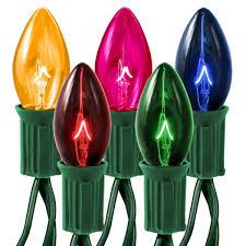 25 transparent multi color c7 string light