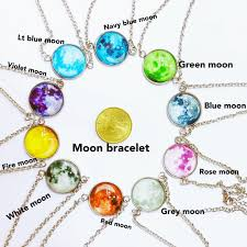 blue moon necklace images Moon bracelet glow in the dark 25cents shopee philippines