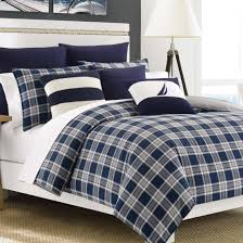 Twin Plaid Comforter Navy Plaid Bedding Nautica Plaid Bedding From Bed Bath Beyond