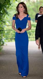 kate middleton hits a home run in a royal blue gown at sportsaid