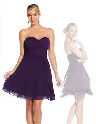 short purple black coral bridesmaid dresses