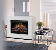 electric fireplace logs in living room traditional with next to