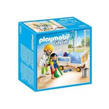 playmobil chambre b playmobil 6661 chambre d enfant avec médecin planète jeux