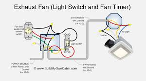 How To Install A Bathroom Exhaust Fan With Light Exhaust Fan Wiring Diagram Fan Timer Switch