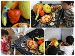 spooky fruit healthy halloween party food ideas in the playroom
