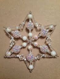 beaded snowflake ornaments ornament and