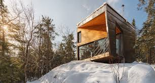 tiny cabin prefab tiny cabin perched on a granite rock to minimize