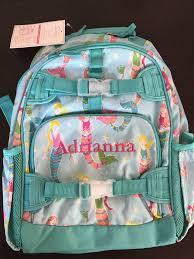 Pottery Barn Mackenzie Backpack Pottery Barn Kids Mackenzie Aqua Mermaid Large Backpack Ebay