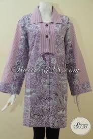 desain baju batik halus atasan batik wanita lengan panjang blus batik modern desain