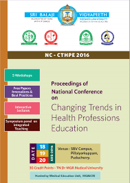 proceedings of hpe national conference by dept of medical