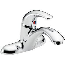 shop delta chrome 1 handle 4 in centerset commercial bathroom