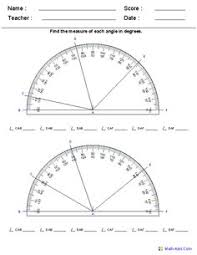 complementary angles worksheets math and