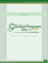 funeral help program funeral programs templates