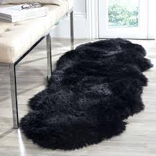Fur Runner Rug Black Shag Rug Istanbulmatbaa Info