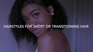 5 curly hairstyles for short and transitioning hair youtube