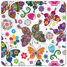 kaleidoscope butterflies print pul fabric diaper sewing supplies