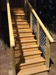 outdoor magnificent building exterior steps pvc deck railing 2