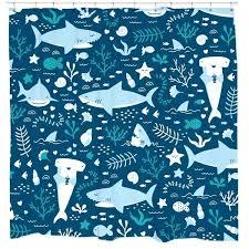 shark shower curtain shark week shower curtain target