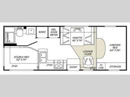 Fleetwood 5th Wheel Floor Plans Used 2000 Fleetwood Rv Tioga 24d Motor Home Class C At General Rv