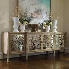 sanctuary 4 drawer console table hooker furniture sanctuary 4 door mirrored console