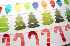 Paint Chips by Paint Chip Christmas Garland Kid Craft A And A Glue Gun
