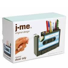cassette tape desk organiser j me stationary retro holder rewind