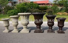 Faux Stone Planters by Faux Stone Look Fiber Clay Decorative Garden Urns Planters Buy