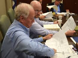 clarksburg water board members review plans for notre dame arch