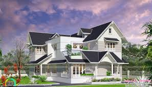 Home Design Kerala 2016 Colonial Touch Modern Home Plan Kerala Home Design And Floor Plans
