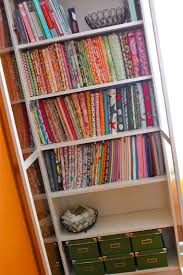 Bookshelf Organization Fabric Storage And Fabric Organization Ideas