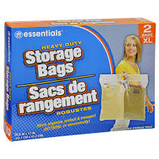 bulk essentials large plastic storage bags with handles 2