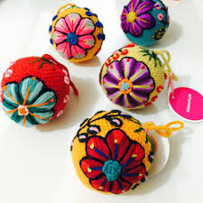 hand embroidered christmas decorations by inkanunaperu on etsy