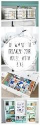 10 ways to organize your house with bins organizing