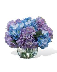 purple hydrangea easily decorate with hydrangea silk flower centerpiece at petals