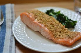 dill mustard mustard and dill crusted salmon that paleo