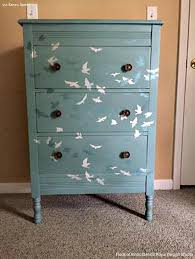 Upcycled Filing Cabinet Diy Decor Ideas Painting Wall Stencils On Painted Furniture