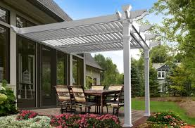 Louvered Roof Pergola by 12 12 Elysium New England Arbors