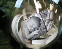 personalized christmas ornaments baby the idea of baby s hospital bracelet and pic of baby in a