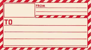 vintage clip gummed parcel post label the graphics