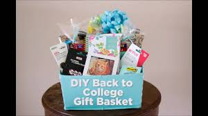 Gift Baskets For College Students Diy Back To College Gift Basket Youtube