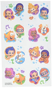 amazon com aqua awesome bubble guppies party temporary tattoo