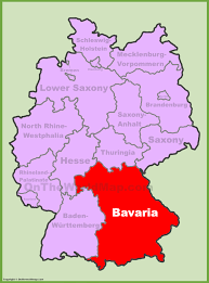 Bamberg Germany Map by Bavaria Maps Germany Maps Of Bavaria Bayern