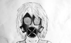gas mask sabitsuki flow original drawing by cah evil on