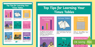 help learning times tables top tips for learning your multiplication tables display poster