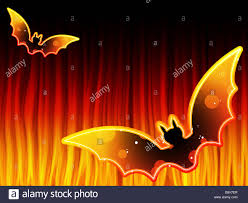 vector halloween background vector halloween background with bats and flames stock photo