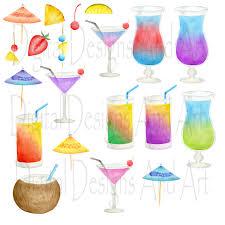 cocktail illustration cocktails clipart watercolor cocktails clip art hand painted