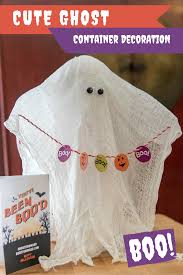 boo cheesecloth ghost container decoration