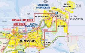 map of bahrain bahrain road maps tourist travel map of bahrain great journeys